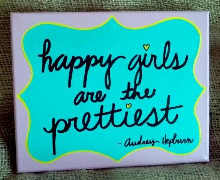 happy girls quote canvas by arkanSASS on Etsy, $24.00