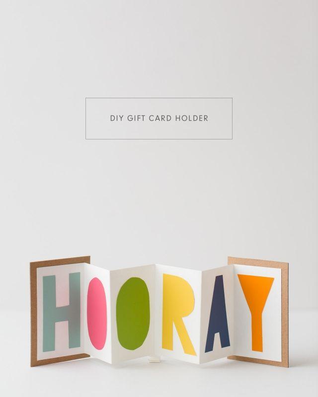 DIY gift card holder tutorial #invitation #stationery