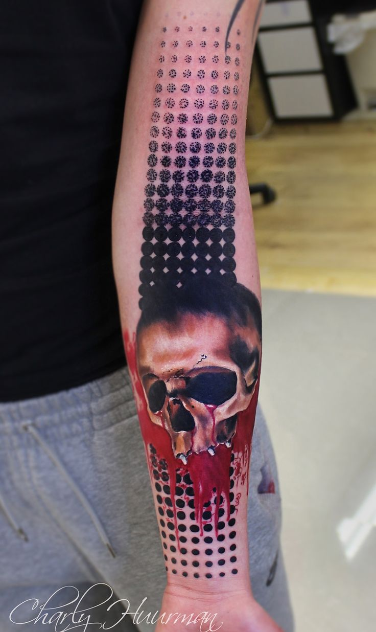trash polka | Trash Polka Tattoo