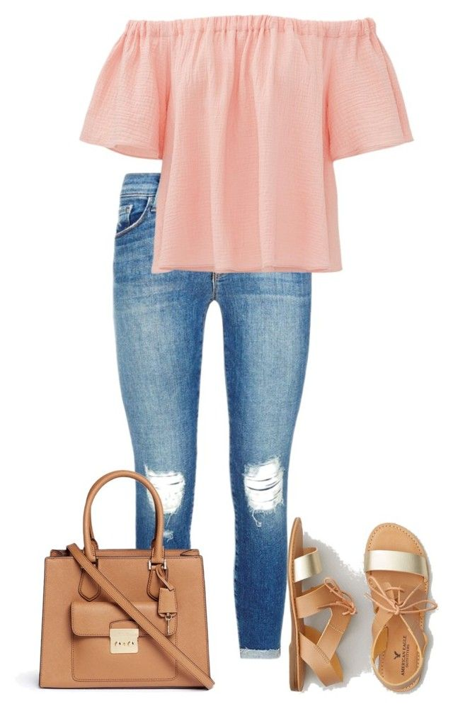 """walk around the park"" by liibenny on Polyvore featuring J Brand, Michael Kors, Rebecca Taylor, American Eagle Outfitters and out"