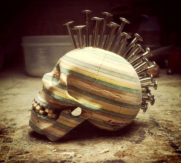 Best Haroshis Artworks Images On Pinterest Exhibitions - Self taught woodworker turning old skateboards awesome sculptures