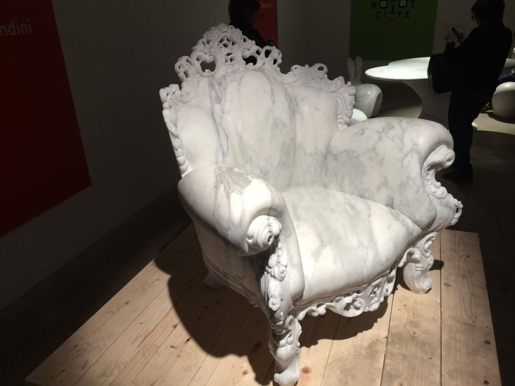 The Marble Proust chair by Alessandro Mendini. Salone del Mobile 2014 Milano