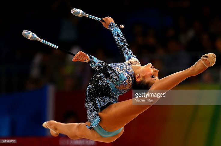 Simona Peycheva of Bulgaria competes in the Individual All-Around Qualification round at the Beijing University of Technology Gymnasium on Day 14 of the Beijing 2008 Olympic Games on August 22, 2008 in Beijing, China.
