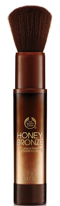 The Body Shop Honey Bronze Brilliance Powder http://beautyeditor.ca/2013/08/16/how-to-wear-shimmer-so-that-you-look-glowy-and-sun-kissed-and-not-crazy-like-kesha/