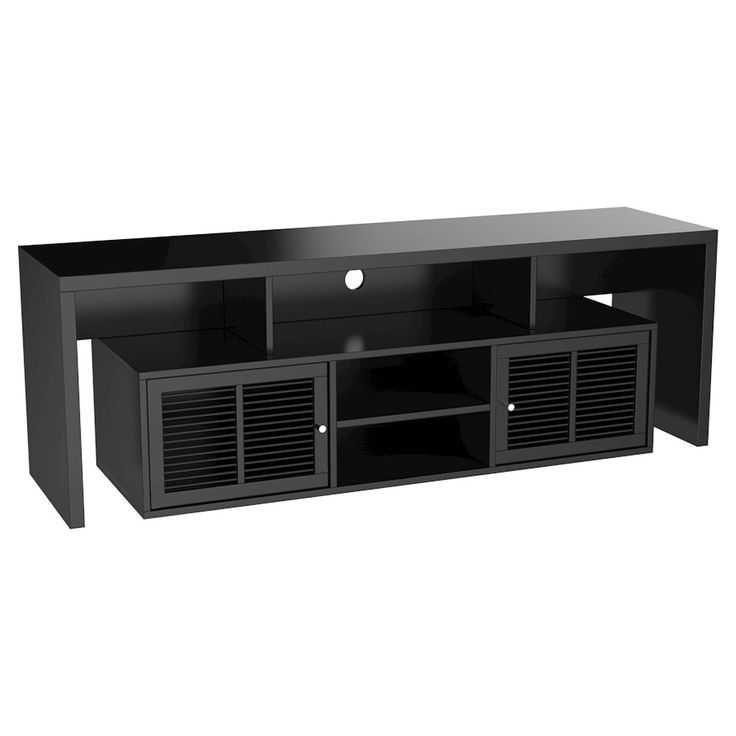 Lexington TV Stand 59 - Black - Convenience Concepts