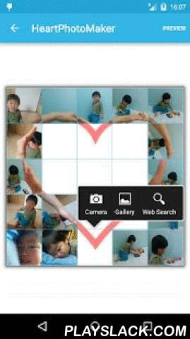 Heart Photo Maker -collage Fun  Android App - playslack.com ,  HeartPhotoMaker is the APP to create one heart shaped photo with some photo mix together.Make heart shape collaged photo with your friends.