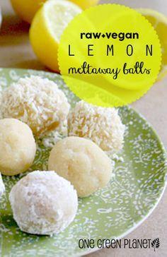 Raw Vegan Lemon Meltaway Balls [GF] http://onegr.pl/1iqRCAH #rawdessert #healthy