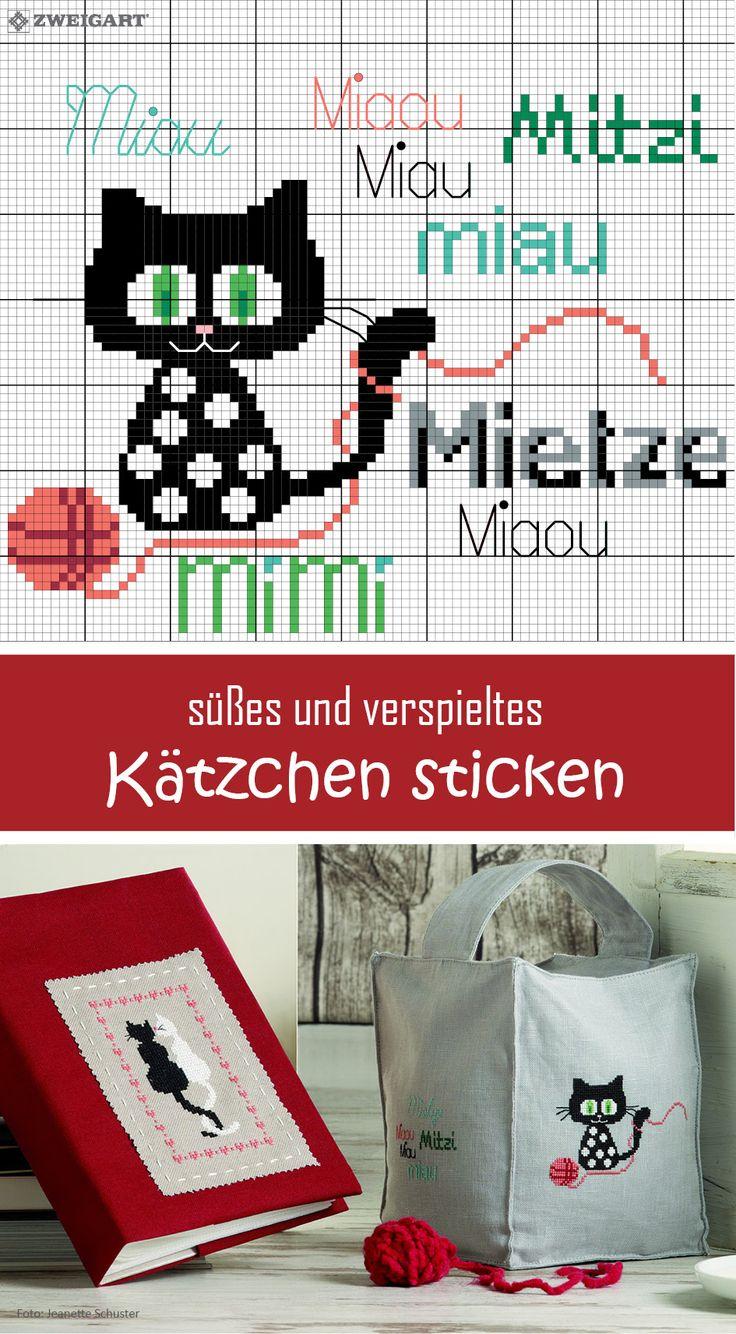 #Sticken #Kreuzstich / #Katze; #Embroidery #Crossstitch / #cat