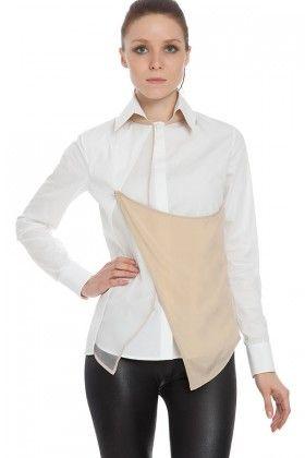 MARBLE&CO Üst Tarafı Bej, Beyaz Gömlek Lidyana