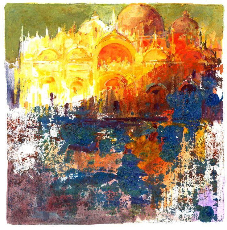 """""""Atardecer en San Marco """"20x20 cm.M.Teresa Martin-Vivaldi"""