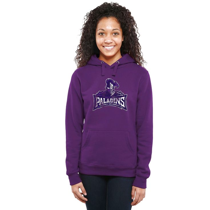 Furman Paladins Women's Classic Primary Pullover Hoodie - Purple - $64.99