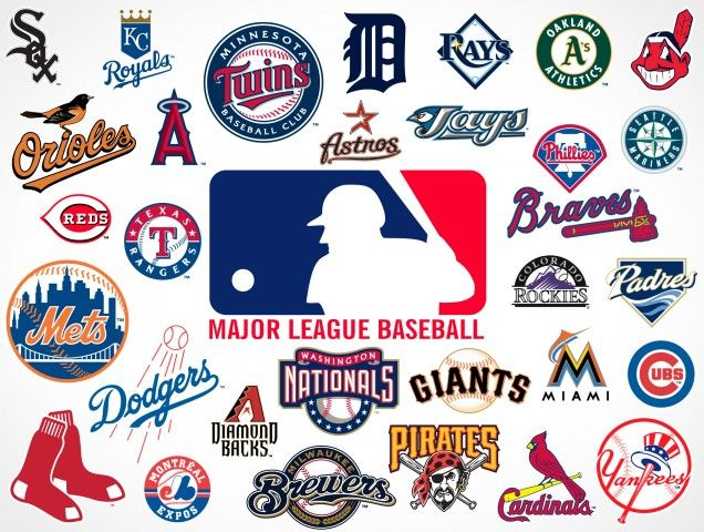 major league baseball logo | Major League Baseball Team Vector Logos EPS SVG PSD | PSDCovers