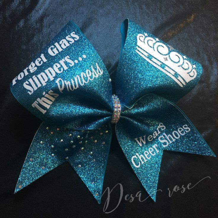 Forget Glass Slippers Cheer Bow by DesaRoseBowtique on Etsy