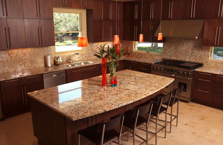 Kitchen Design, Vintage Grey Granite Tile Kitchen Countertopss And  Backsplash Colors Idea Use Dark Wooden Cabinet As Well Orange Small Pendant  Lighu2026