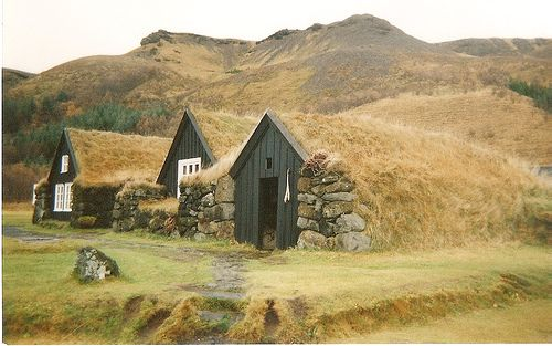 Torfhús in what I'm guessing is Iceland: Building, Iceland, Hobbit Home, Green Roof, Hobbit Houses, Underground Home, Cottages, Awesome Home, Earth Houses