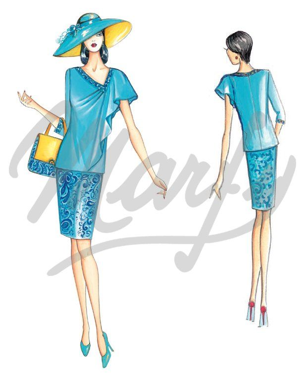 Our Patterns :: Marfy Collection 2015/2016 :: Sewing Pattern 3646 -