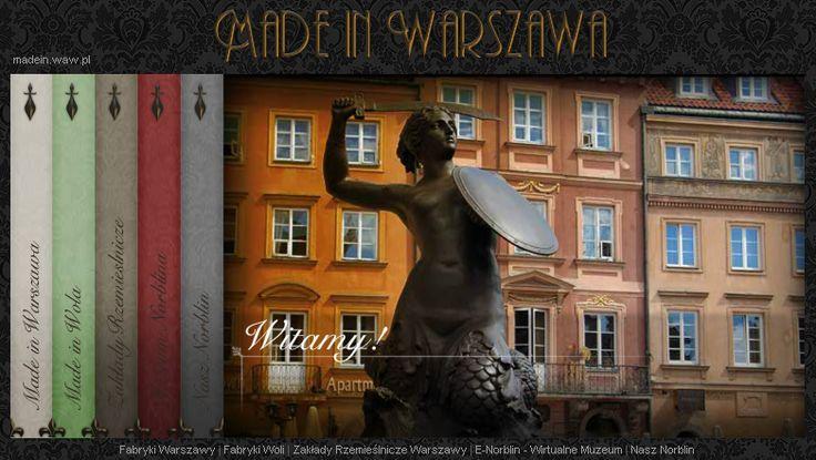 Projekt Made in Warszawa i mapa rzemiosła artystycznego Warszawy.