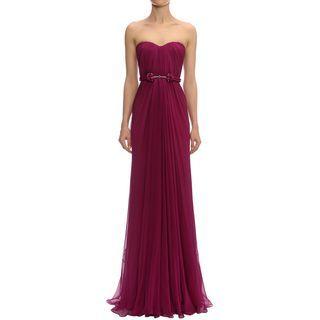 ALEXANDER MCQUEEN, Long Dress, Draped Bustier Gown