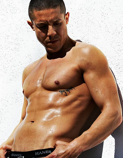 "Theo Rossi. The name ""Juice"" on Sons of Anarchy is dead-on, cause he's juicy as fuck. Wish he had way more shirtless scenes in SOA."
