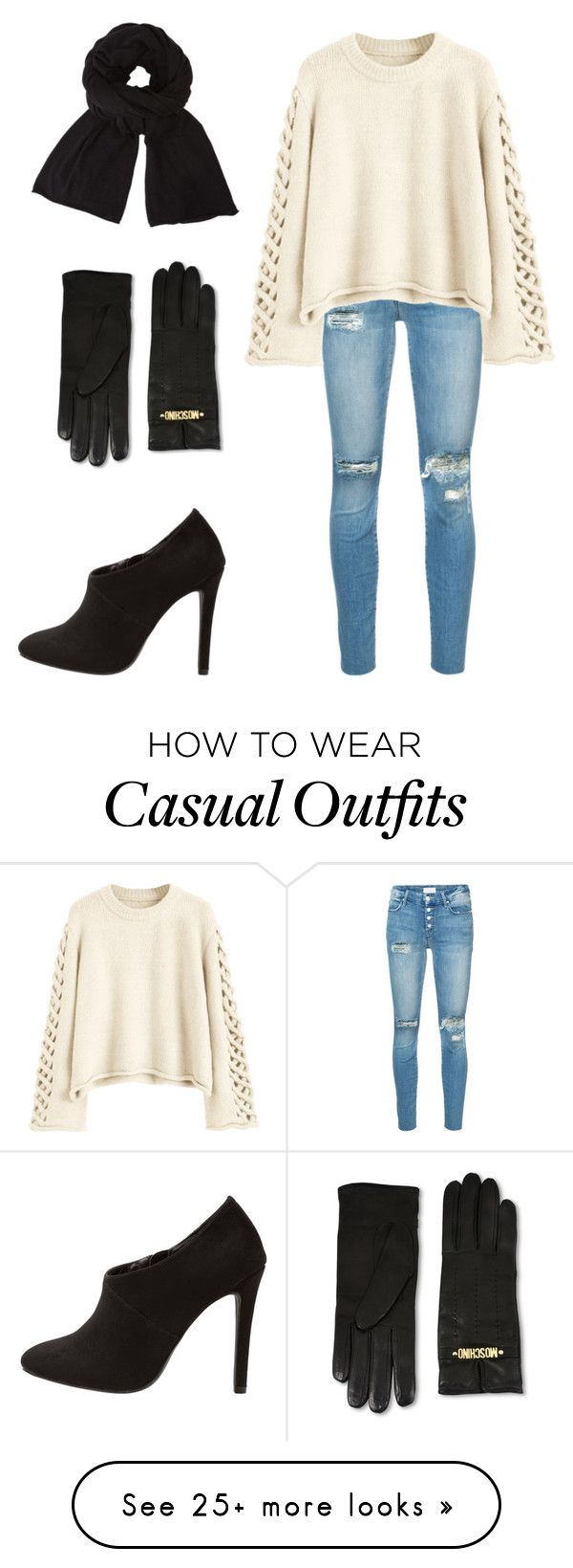 """Casual Styler"" by abatevintage on Polyvore featuring Mother, Moschino, John Lewis and vintage"