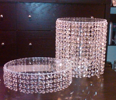 17 best images about hanging crystals on pinterest for How to make a chandelier out of a lamp shade