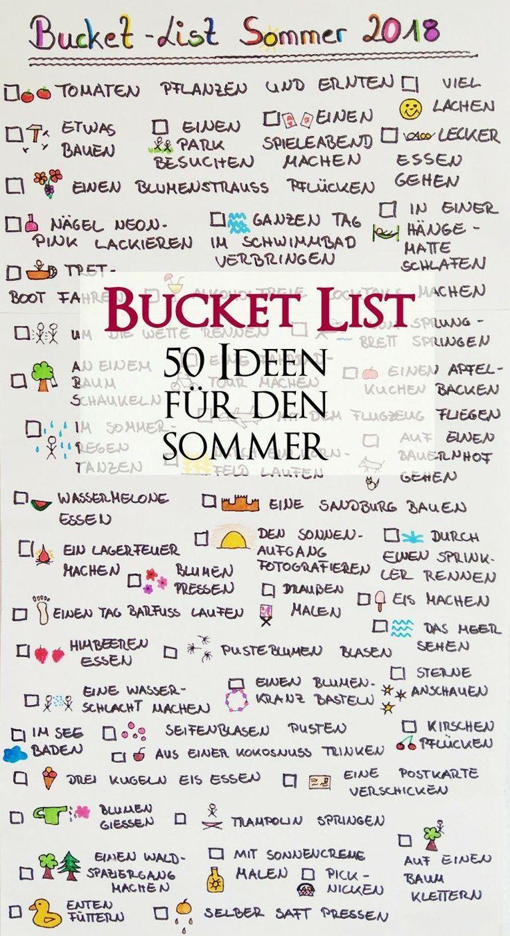 Bucket List für den Sommer – 50 Dinge die wir diesen Sommer machen wollen