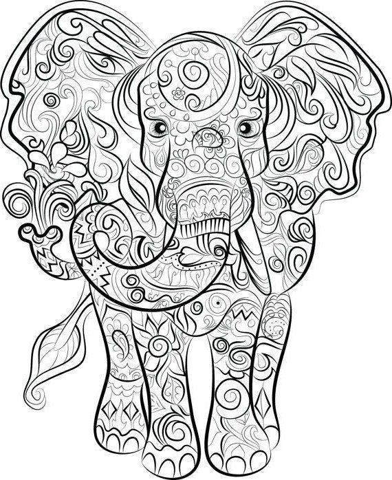 Sofortiger Digitaler Download Elefant Malvorlagen Von Chandraws Wenigstens Escape Natu Animal Drawing Pencil Drawing Mandala Ausmalen Malvorlagen Weihnachtsmalvorlagen