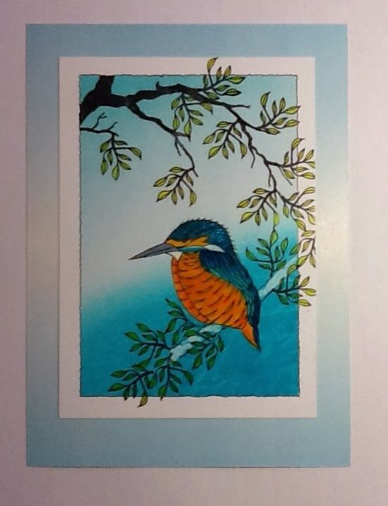 Barbara Gray's Blog. One Day at a Time.: Kingfisher Blue...
