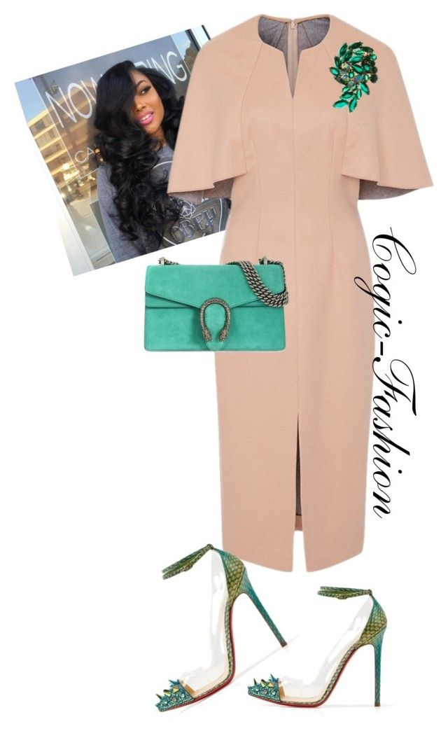 """I❤Aim  My Convention!!"" by cogic-fashion on Polyvore featuring Lela Rose, Gucci, cogicfashion and iloveaim"