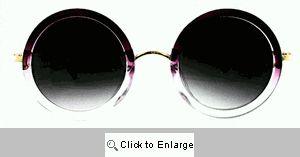 Katy Big Round Designer Sunglasses - 248 Purple Ombre
