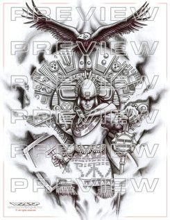 AMAZING precolumbian warrior tattoo design