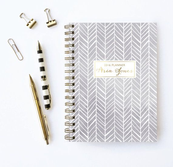 2016 Planner  Personalized Planner  Choose Start by KarmaPaperCo
