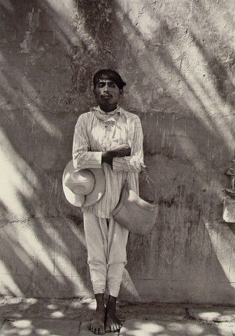 Man from Papantla by Manuel Alvarez Bravo - 1934 visit us on line at www.mainlymexican... and on eBay #Mexican #Mexico #antique #vintage #photography
