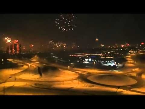 Fireworks on new years eve in Iceland 2012-2013. Video was taken from someone's balcony in Kopavogur.