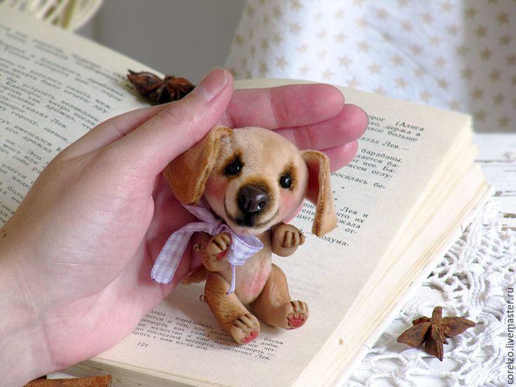 Купить Щенок Мокко мини тедди. Серия Кармашкины. (10см) - щенок, щенок тедди, миник