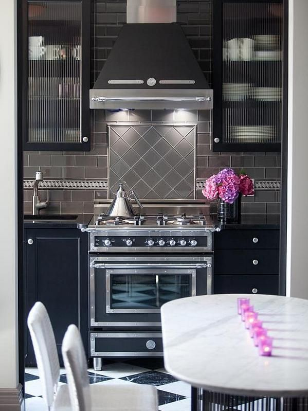 Superb 9 Splurge Worthy Kitchens, This Vintage Revamp With An Art Deco Vibe Is  Fabulous. ❤ This Backsplash U0026 Design
