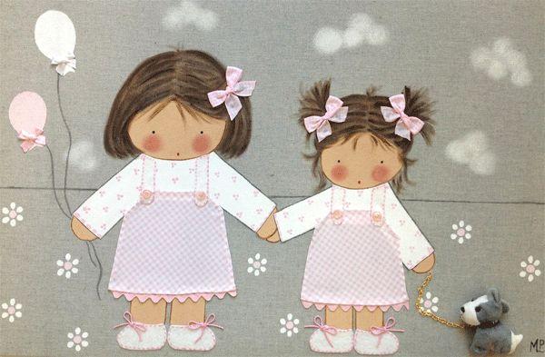 Cuadros infantiles artesanales y personalizados                                                                                                                                                                                 Más