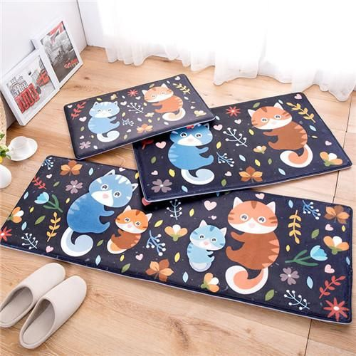 Owl Kitchen Rugs Nook Lighting Ideas Carpet 45 120cm Mat Cartoon Home Door Antislip Christmas Decor Floor