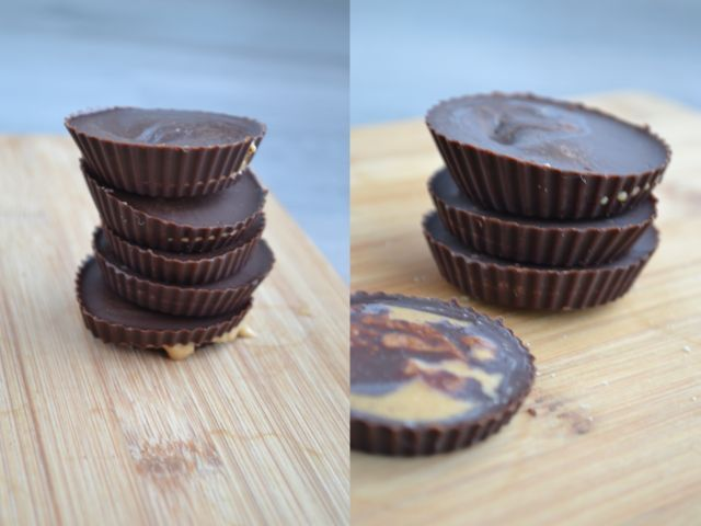 Deze notenpasta chocolaatjes zijn lekkere cups van zelfgemaakte chocola, gevuld met pindakaas of gemengde notenpasta. Uiteraard 100% suikervrij!