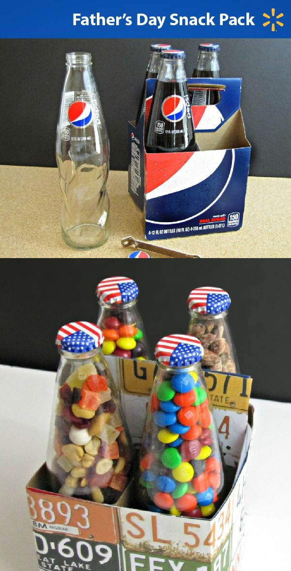 Looking to put together something for the special Dad in your life? How about making this cute (and easy!) Father's Day snack pack with supplies from Walmart?