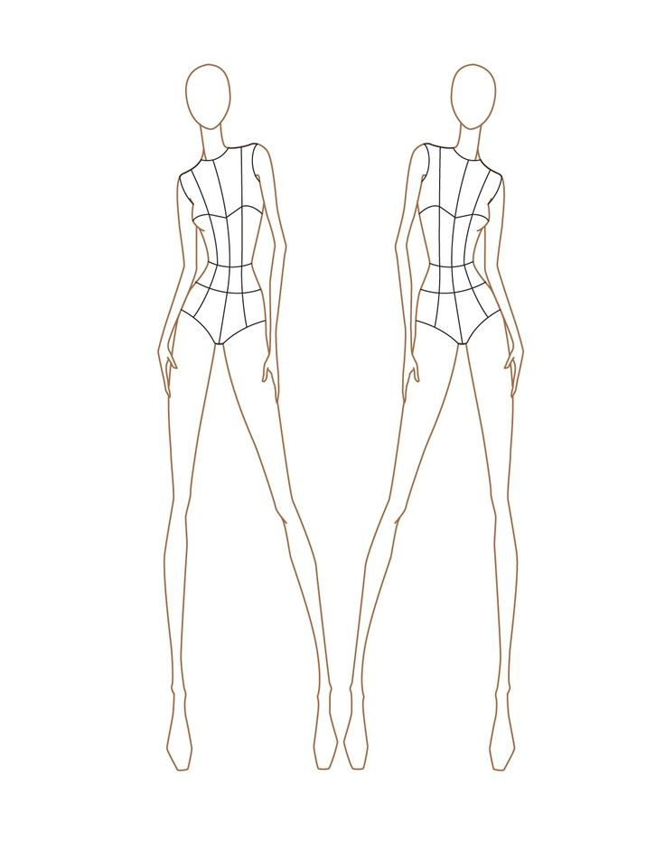Fashion Design Croquis Templates