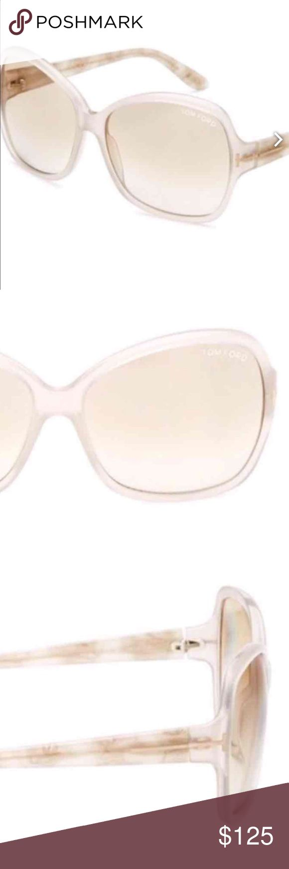 Beige/Clear Tom Ford sunnies❤️ Authentic Tom Ford sunnies! Lucite with a rose colored lense. The are polarized as well. They have been warn only 3 times! They come with case and dust cloth to clean lenses. Mint condition. A sexy oversized look. Tom Ford Accessories Glasses