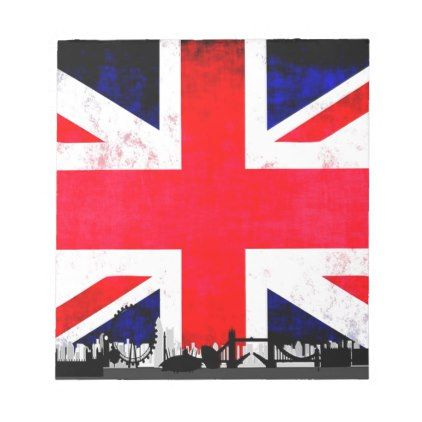London Skyline Silhouette Notepad - drawing sketch design graphic draw personalize
