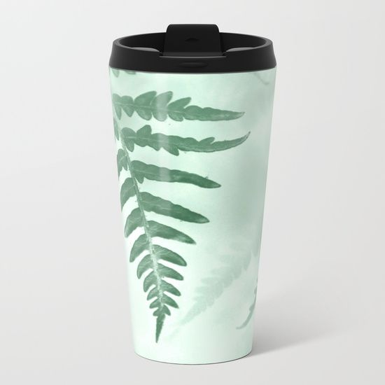 fern Metal Travel Mug by ARTbyJWP from Society6 #metalmug #travelmug #coffeemug #mugs #greenleaves  #artbyjjwp #botanical #fern --   Talk about steely good looks. In addition to a 360-degree wraparound design, our metal travel mugs are crafted with lightweight stainless steel - so they're pretty much indestructible. Plus, they're double-walled to keep drinks hot (or cold), fit in almost any size cup holder and are easy to clean.