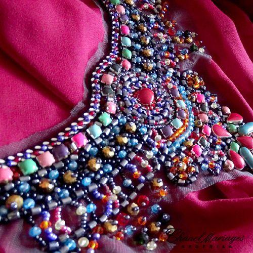 Aplique Incrustaciones multicolor