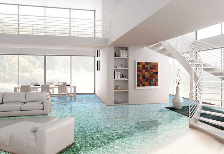 Ecco 20 spettacolari esempi di pavimenti 3D per interni, elementi decorativi d'ispirazione geometrica o naturale per personalizzare qualsiasi ambiente