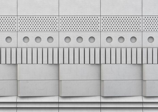// concrete wall tiles by Erica Wakerly