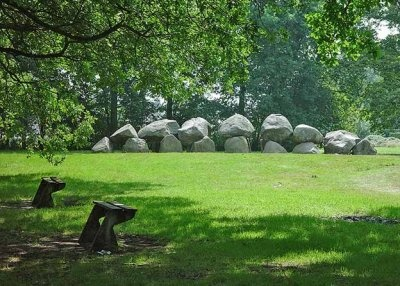 Hunebed (dolmen) in Drenthe, east-Holland