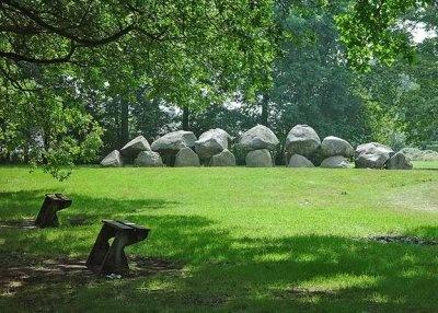 Hunebed (dolmen) in Drenthe, east-Holland