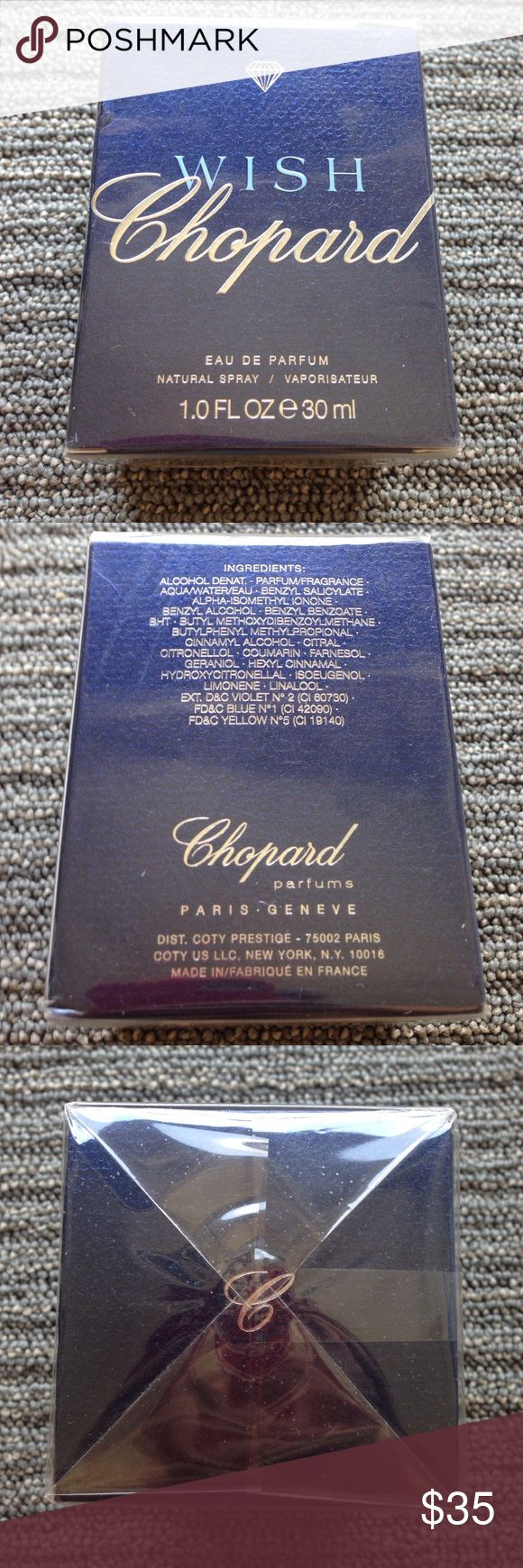 CHOPARD WISH EAU DE PARFUM Purchased in Paris, France. Chopard Accessories